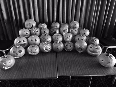 P7 pumpkins black and white